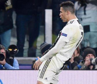 Juve-Atlético: Cristiano Ronaldo célèbre son triplé en moquant Simeone