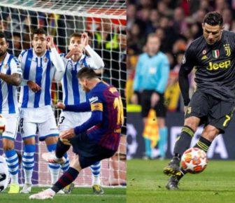 Qui a inscrit le plus de buts sur coup franc: Messi ou Cristiano?