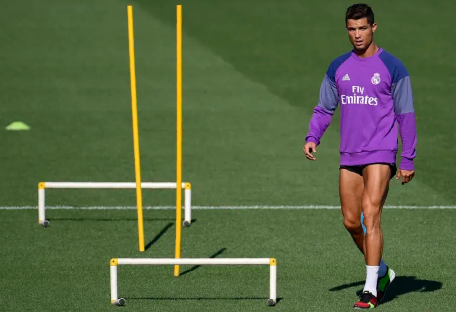 Cristiano Ronaldo à l'entraînement