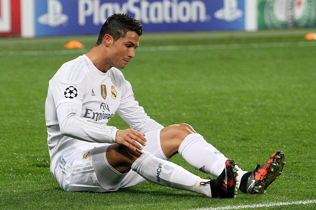 Cristiano Ronaldo, au cours d'un match avec le Real
